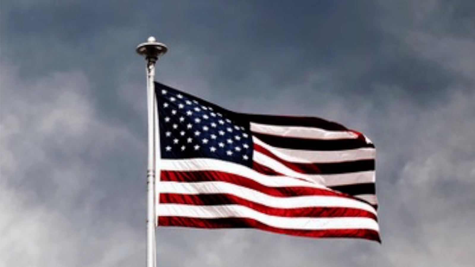 American Flag on Flagpole Linking to Nov 23 Flagpole Youtube Video